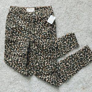 FREE PEOPLE Belle Printed Skinny Pants in Cheetah